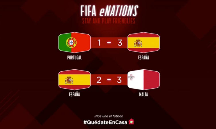 Resultados de los amistosos en la eNations Stay and Play